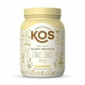 KOS Organic Plant Based Vanilla Protein Powder - 30 Servings - 2.4lb canister!!!