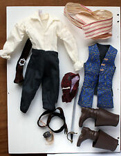 Ken Doll Pirates of the Caribbean Jack Sparrow Original Clothes Lot
