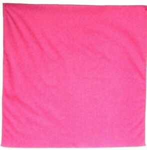 "Bandanna on Solid Color Magenta Pink on 100% Cotton #63 Handmade 20"" X 20"""