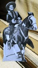 """Cisco Kid and his Horse Diablo  Western Tabletop Display Standee 10 1/2"""" Tall"""