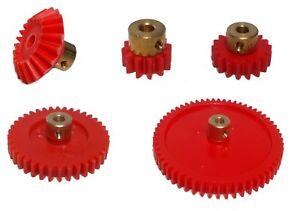 Model Plastic Gears with Brass Centre - screw fixing for 4mm shaft