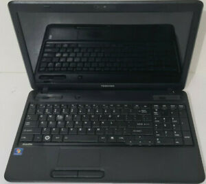 "TOSHIBA SATELLITE C665D PC LAPTOP 15.5"" SCREEN DVD USB LAN BLACK WINDOWS 7"