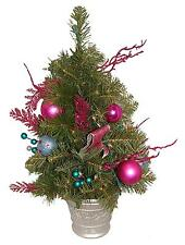 2' Pre-Lit Pink Candy Fantasy Decorated Artificial Christmas Tree - Clear Lights