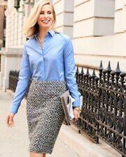 Women's Talbots poppy tweed pencil skirt size 16 $109 price NWT classy attire