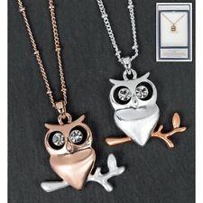 Cute Owl Pendant Rose Gold