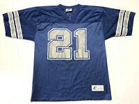 Vintage Logo Athletic Dallas Cowboys Deion Sanders Jersey #21 Blue Men Medium 90