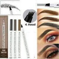 4 Tip Waterproof Eyebrow Microblading Ink Pen Pencil Tattoo 3D Fork Makeup