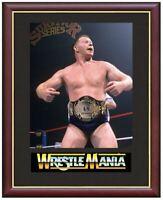 Bob Backlund Wrestling Legend Mounted & Framed & Glazed Memorabilia Gift