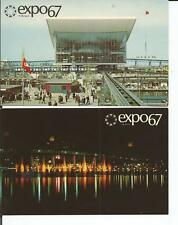 EXPO 67 MONTREAL QUEBEC LOT OF 2 POSTCARDS