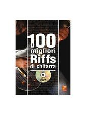 100 Riff Chitarra Gtr Bk Cd Learn to Play Present Gift MUSIC BOOK & CD Guitar