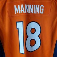 NFL Denver Broncos #18 Manning Superbowl Edition Big kids L On Field Nike Jersey