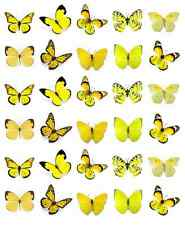 Yellow Butterflies Cupcake Toppers Edible Wafer Paper BUY 2 GET 3RD FREE