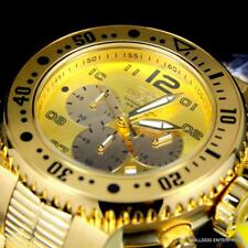 Men's Invicta Pro Diver Combat Seal 18kt Gold Plated Chronograph 52mm Watch New