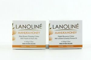 2X Lanoline Manuka Honey Skin Renew Firming & Night Recovery Creme 1.76oz ea