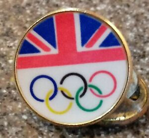 Great Britain NOC Olympic Pin Rings Small