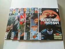 "2018 Deathstroke VS. BATMAN ""Complete Set"" of 6 Comics (30-35) NM/1ST PRINTS!!!"