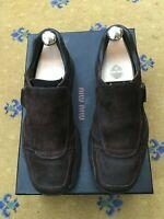Miu Miu by Prada Mens Brown Suede Trainers Sneaker Shoes UK 7 US 8 EU 41