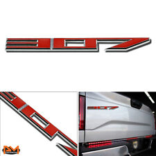 """""""307"""" Polished Metal 3D Decal Red&Silver Emblem For Infiniti/Cadillac/Buick"""