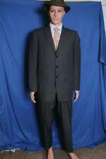 Vintage 50s Sears gray pinstripe 2 piece 3 button men's suit 38  28X30