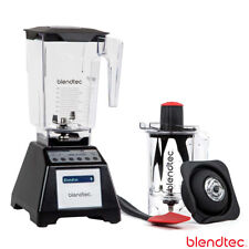 Blendtec Total Blender with WildSide Jar, Twister Jar, UK STOCK, Black