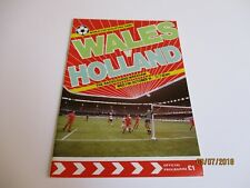 1990 World Cup Qualifier Football Programme - Wales v Holland 1989