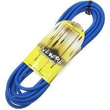 Livewire 6m Jack to Angled Jack Guitar Lead - Blue - Livewire Instrument Cable
