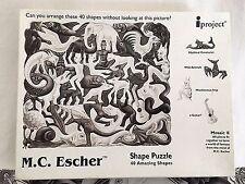 M.C. Escher Shape Puzzle Animals Myths 40 piece 1999 iProject