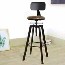 50% off Vintage Industrial Style Bar Stool Back Rest Adjustable Faux Leather