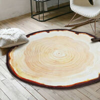 New Area Rug Creative Tree Growth Ring Round Carpet Living Room Decorative Mat