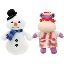 2pcs Disney Jr Doc McStuffins Chilly Snowman + Hallie Hippo Plush Doll Toy Gift