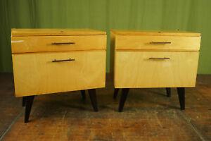 60er Vintage Mini Sideboard Bedside Cabinet Retro Bedside Table mid-Century 1/2