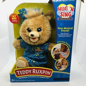 Teddy Ruxpin Lullaby Hug N Sing Interactive Stuffed Bear Toy Exclusive New