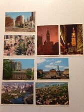 Philadelphia Pennsylvania PA Chestnut Street City Hall Arial 1970s? Postcard Lot