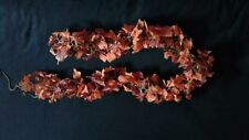 Autumn Home 6 ft 35 yellow lighted fall maple leaf garland indoor &  outdoor NIP