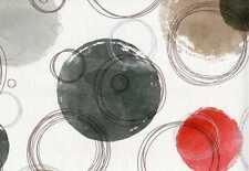 Vlies Tapete Retro Kreise weiß rot schwarz braun grau silber 3614-30