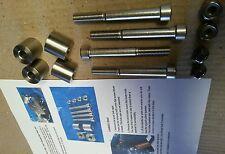 suzuki hayabusa handlebar riser kit.gsxr1300 1999-2015.full stainless steel.25mm