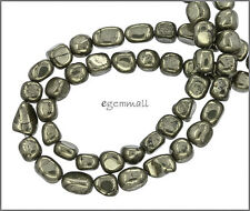"15.8"" Golden Pyrite Tumble Nugget Beads ap.6-7mm #85380"