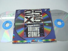 THE ROLLING STONES 25x5 The Continuing Adventures of - Laser Disc LD - DOUBLE
