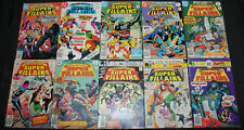 THE SECRET SOCIETY OF SUPER VILLAINS COMIC RUN 1-15+ SPECIAL (VF-to NM)