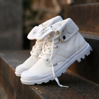 Women's Canvas Ankle Martin Boots High Top Shoes Breathable Lace Up Sneakers New