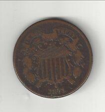 U.S. 1871  Two   Cent Piece  Tough Date