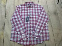 NEW Vineyard Vines Slim Fit Murray Shirt Long Sleeve Plaid Red White Blue sz XL