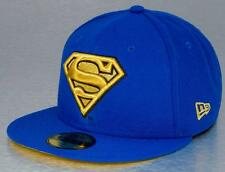 A06 NEW ERA 59FIFTY Fitted Baseball Cap SUPERMAN Gold Logo Various Sizes