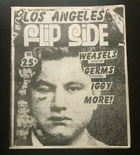FLIPSIDE FANZINE ISSUE #2 ORIGINAL MAGAZINE PUNK WEASLES GERMS IGGY POP NM 1977