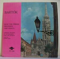 """33T BARTOK Vinyl LP 12"""" MUSIC FOR STRINGS PERCUSSION AND CELESTA Hongrie G LEHEL"""