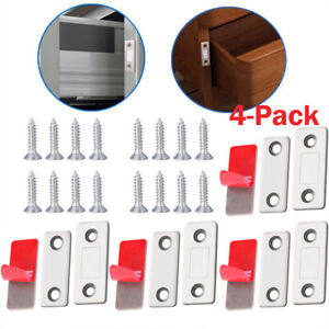 Cabinet Magnetic Door Catch, Stainless Steel Ultrathin Strong for Kitchen Closet