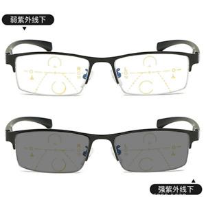 Anti Blue ray Multifocal Progressive Transition grey Reading glasses Far/near