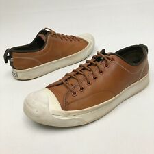 @@ Converse Jack Purcell Brown Leather Low Top Sneaker Sz 9.5 Eu41 Flats Skate
