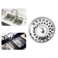 Edelstahl Küchenspüle Schmutzfänger Ablassschraube Filterkor Ablassstopfen K3A0