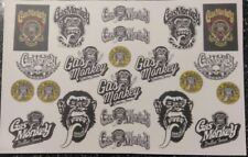 Monkey  Clear! WATER-SLIDE DECALS FOR HOT WHEELS, MATCHBOX,1:64  MADE IN USA!